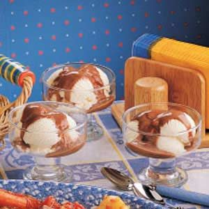 Chocolate Pudding Sundaes Recipe