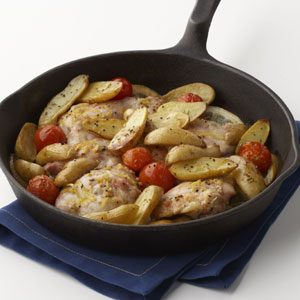 Skillet-Roasted Lemon Chicken with Potatoes Recipe