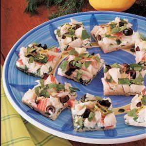 Colorful Crab Appetizer Pizza Recipe