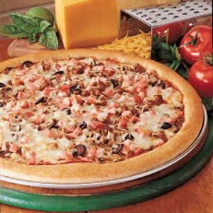 Two-Meat Pizza with Wheat Crust Recipe
