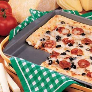 Pizza with Stuffed Crust Recipe