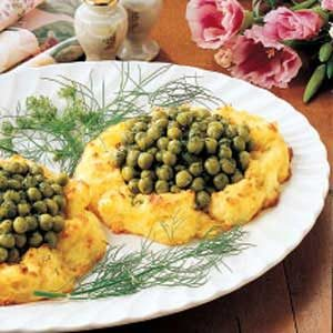 Potato Nests with Peas