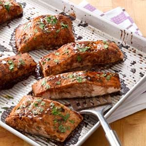 Salmon with Balsamic-Honey Glaze