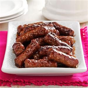 Maple-Glazed Sausages Recipe