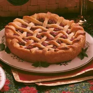 Cherry Lattice Coffee Cake Recipe
