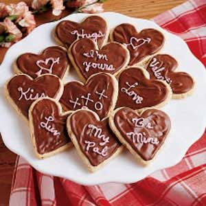 Frosted Valentine Cookies Recipe