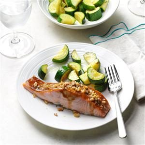 Walnut-Crusted Ginger Salmon Recipe