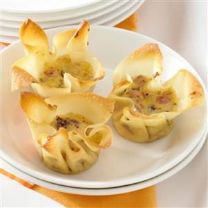 Smoked Gouda and Ham Appetizer Tarts