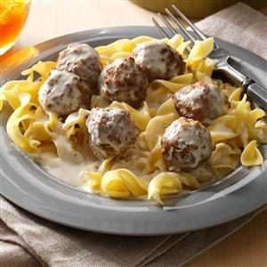 Swedish Meatballs Alfredo