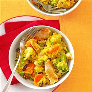 Chicken & Vegetable Curry Couscous Recipe