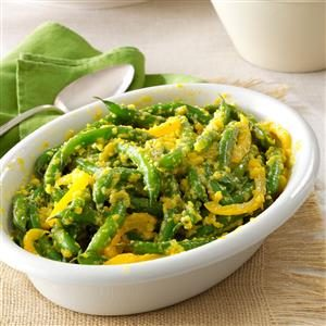 Green Beans with Yellow-Pepper Butter
