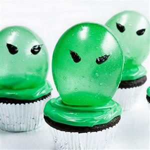 Spooky Gelatin Bubble Cupcakes Recipe