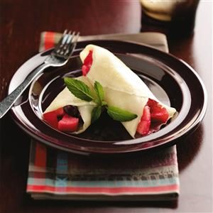 Spiced Apple-Cranberry Crepes Recipe