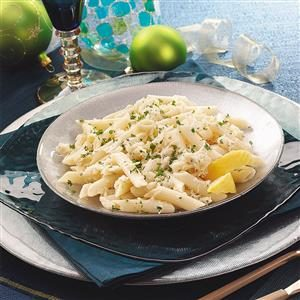 Lemon-Garlic Penne with Crab