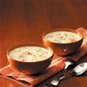 Golden Potato and Ham Soup Recipe