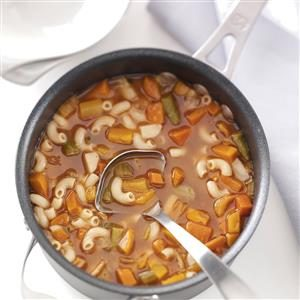 Hearty Macaroni Vegetable Soup