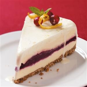 Cran-Orange Ice Cream Cake