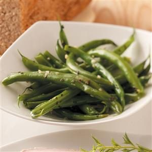 Basil-Garlic Green Beans Recipe
