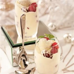 Berries with Champagne Cream Recipe