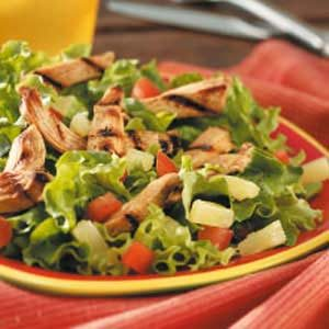 Grilled Chicken and Mixed Greens Salad Recipe