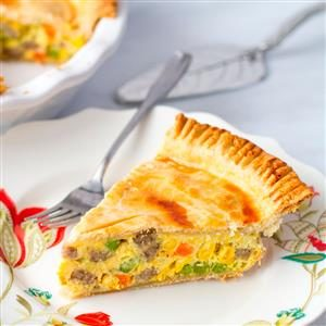 Breakfast Sausage Pot Pie Recipe