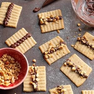 Chocolate Topped Peanut Butter Spritz Recipe
