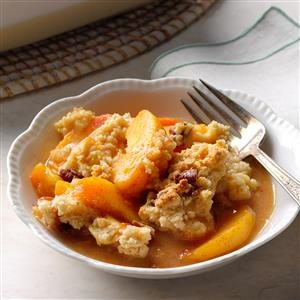 Lime & Spice Peach Cobbler Recipe