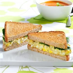 Egglands Best Pesto Egg Salad Sandwiches