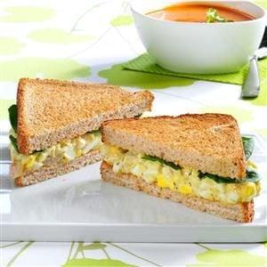 Egglands Best Pesto Egg Salad Sandwiches