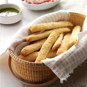 Soft Sesame Breadsticks Recipe