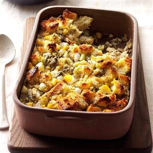 Corn Bread Dressing with Oysters Recipe