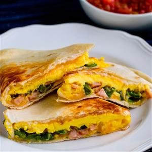 Jalapeno and Canadian Bacon Breakfast Quesadillas Recipe