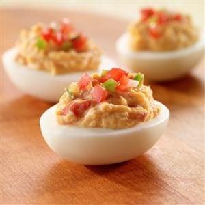 Salsa Deviled Eggs Recipe