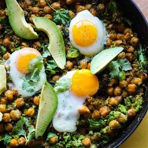 Skillet Chickpeas and Broccoli Rice Recipe
