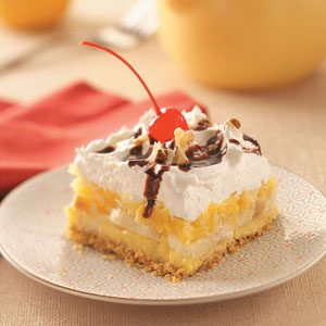 Graham Cracker Banana Split Dessert Recipe