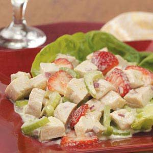 Curried Strawberry Chicken Salad