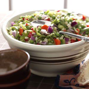 Make-Ahead Veggie Salad Recipe