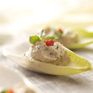 Salmon Mousse Endive Leaves Recipe photo by Taste of Home