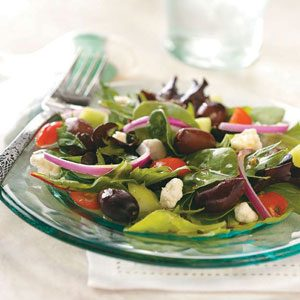 Greek Salad with Greek Artisan's Olives