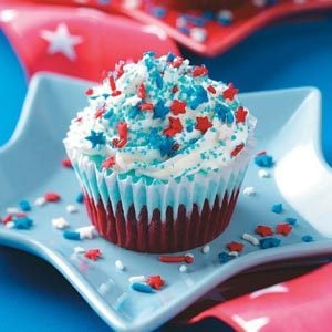 Patriotic Ice Cream Cupcakes Recipe