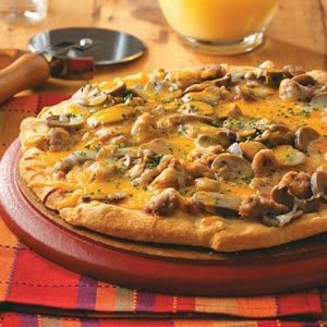 Pork and Mushroom Breakfast Pizza Recipe