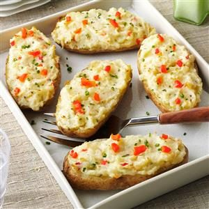 Fancy Baked Potatoes Recipe