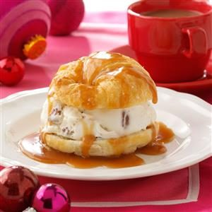 Faux Profiteroles with Warm Caramel Sauce