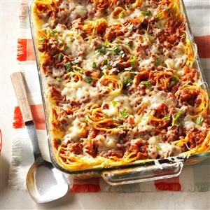 Favorite Baked Spaghetti Recipe
