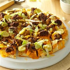 Favorite Cheeseburger Pizza Recipe