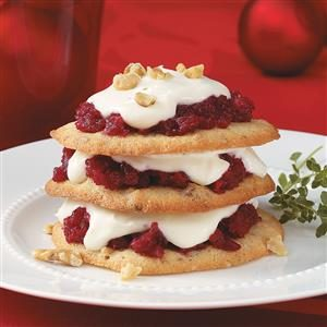 Festive Napoleons with Thyme Cream