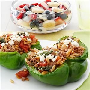 Feta Stuffed Peppers Recipe