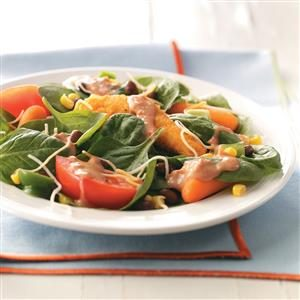 Fiery Chicken Spinach Salad Recipe