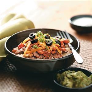 Fiesta Beef Bowls Recipe