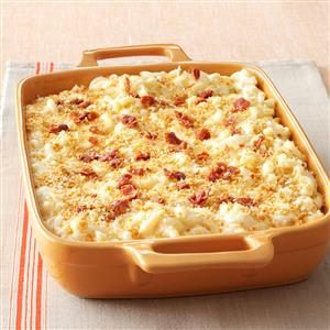Five-Cheese Macaroni with Prosciutto Bits